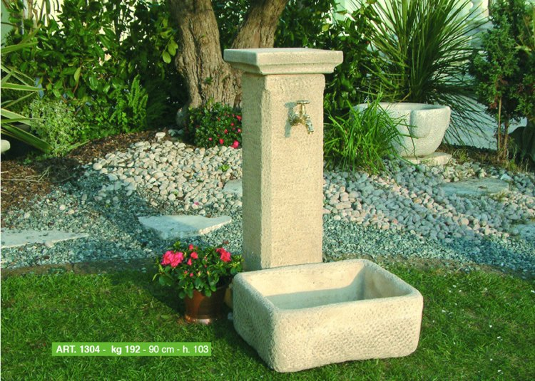 Arredi per giardino cassette vasi fontane arredo urbano for Fontana fai da te